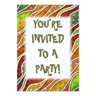 Customizable AUTUMN STRIPES PARTY INVITATIONS