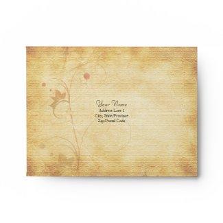 Customizable Autumn Wedding A-2 Envelope envelope