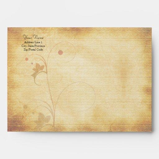 Customizable Autumn Wedding A-7 Envelope