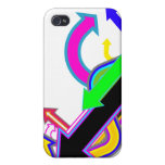 Customizable Awesome Arrow design iPhone 4/4S Covers
