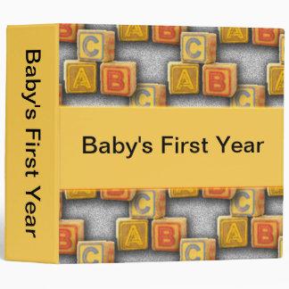 Customizable Baby Binder