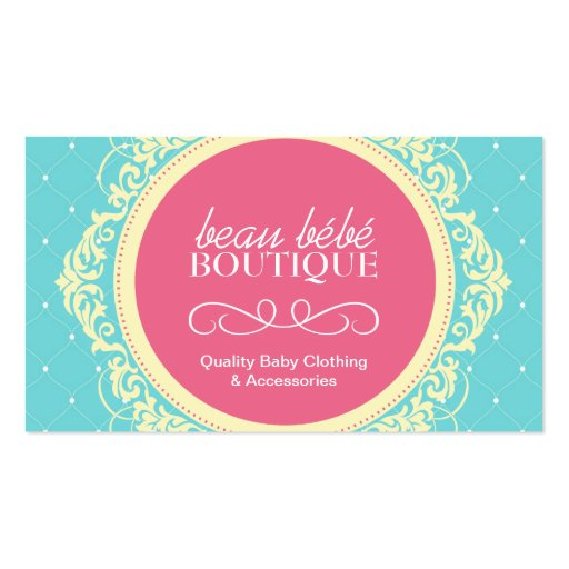 Customizable Baby Boutique Business Card