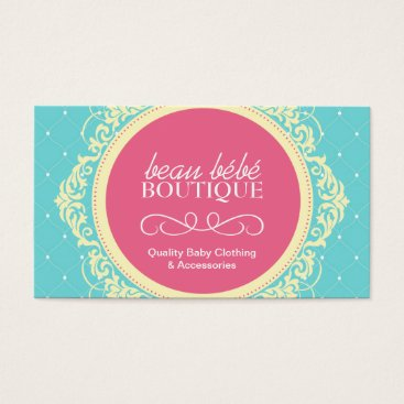 Professional Business Customizable Baby Boutique Business Card
