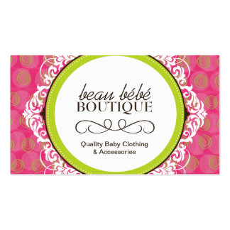 Baby Boutique Business Cards & Templates
