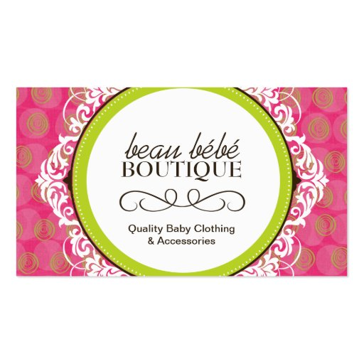 1 000 Baby Boutique Business Cards and Baby Boutique