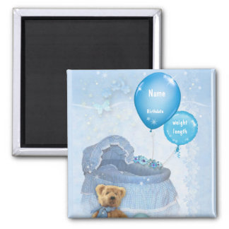 Customizable Baby Boy 2 Inch Square Magnet