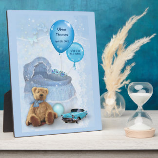 Customizable Baby Boy Display Plaque
