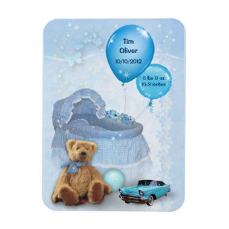 Customizable Baby Boy Magnet