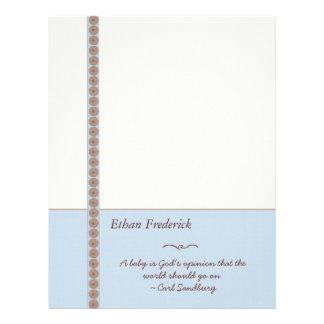 Customizable Baby Boy Paper - Blue Letterhead