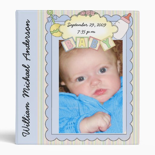 customizable baby boy photo album binder