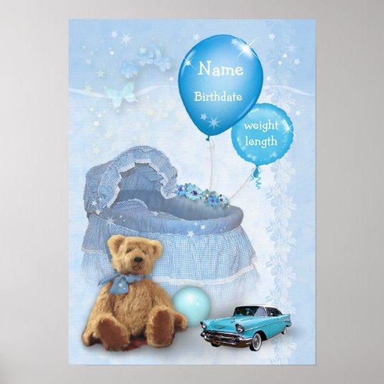 Customizable Baby Boy Poster