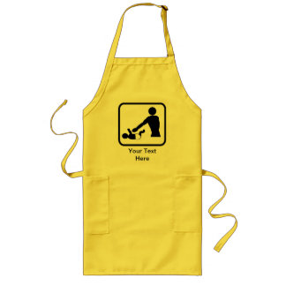 Customizable Baby Change Logo for a New Dad Long Apron