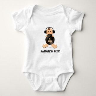 Customizable Baby DJ on Headphones & Vinyl Baby Bodysuit