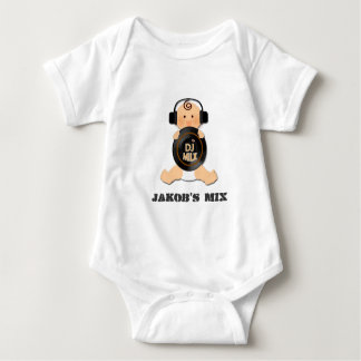 Customizable Baby DJ on Headphones & Vinyl Baby Bodysuit
