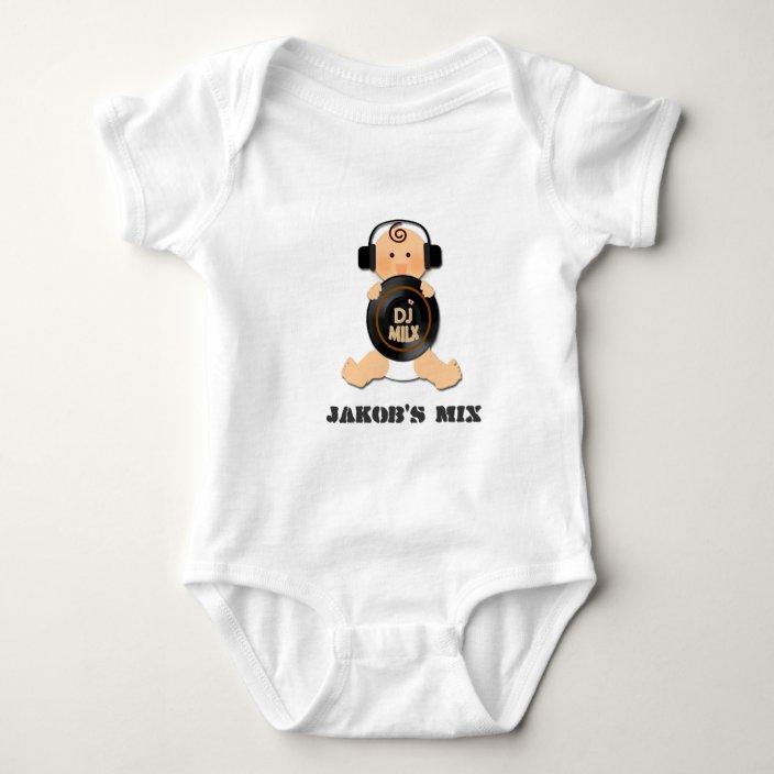 Cute Baby Grow Custom BabyGrow Vest Bodysuit DJ Headphones music dance