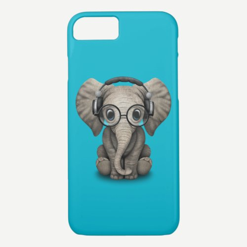 Customizable Baby Elephant Dj with Headphones iPhone 8/7 Case