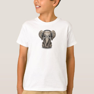 Customizable Baby Elephant Dj with Headphones T-Shirt