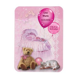 Customizable Baby Girl Magnet