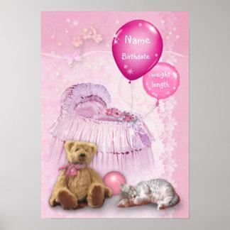 Customizable Baby Girl Poster