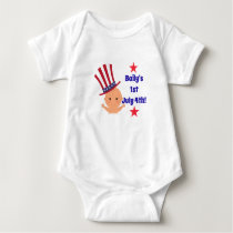 Customizable Baby One Piece July 4th Holiday Baby Bodysuit