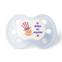 Customizable Baby Pacifier July 4th