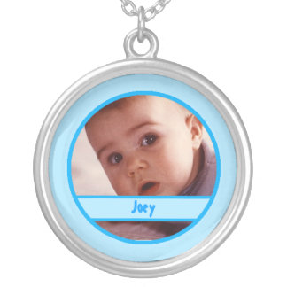 Customizable Baby Photo Charm Necklace