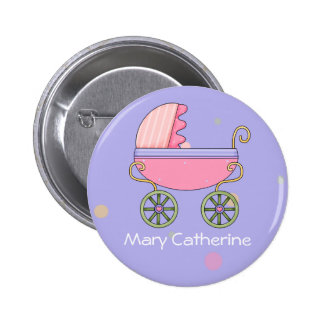 Customizable Baby Shower Favors Pinback Button