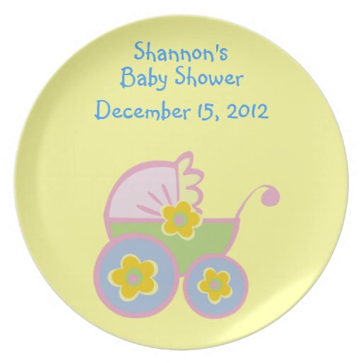 customizable baby shower plates zazzle