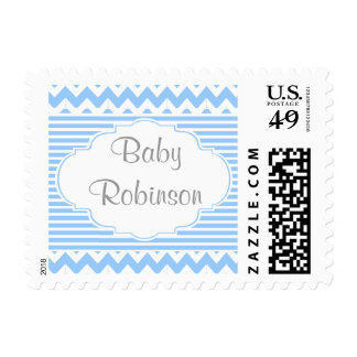 Customizable Baby Shower Stamps (boy)