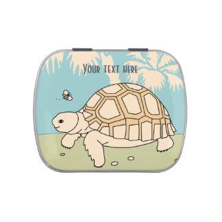 Customizable Baby Sulcata Tortoise Candy Tin