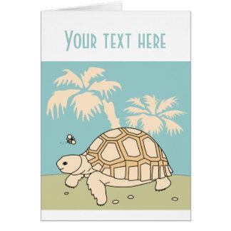 Customizable Baby Sulcata Tortoise Card