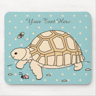 Customizable Baby Sulcata Tortoise Mouse Pad