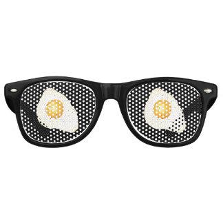 Customizable background black color - Fried egg Retro Sunglasses
