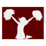 Customizable Background Cheerleader Cheerleading Card