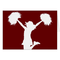 cheerleader, cheerleading, cheer, high school, middle school, rec league, drawing, art, outline, Card with custom graphic design