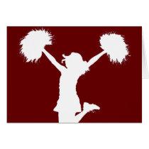 cheerleader, cheerleading, cheer, high school, middle school, rec league, drawing, art, outline, Card with custom graphic design