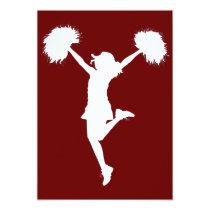 cheerleader, cheerleading, cheer, high school, middle school, rec league, drawing, art, outline, Invitation with custom graphic design
