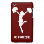 Customizable Background Cheerleader Cheerleading Barely There iPod Case