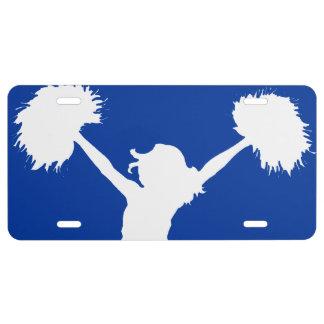 Customizable Background Cheerleader Cheerleading License Plate