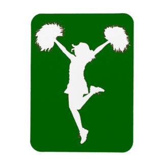 Customizable Background Cheerleader Cheerleading Magnet