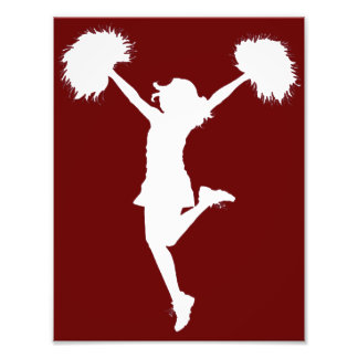 Customizable Background Cheerleader Cheerleading Photo Print