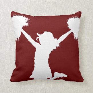 Customizable Background Cheerleader Cheerleading Pillow