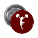 Customizable Background Cheerleader Cheerleading Pinback Button