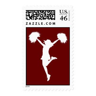 Customizable Background Cheerleader Cheerleading Stamp