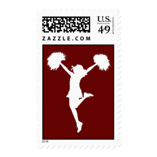 Customizable Background Cheerleader Cheerleading Stamp