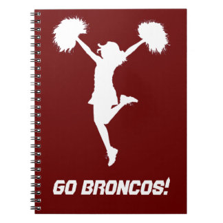 Customizable Background Cheerleader Cheerleading Spiral Notebook