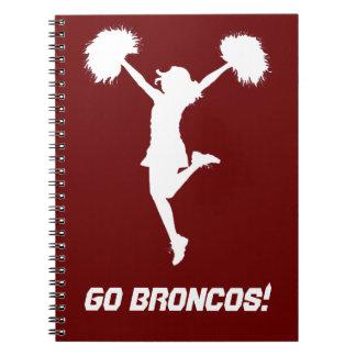 Customizable Background Cheerleader Cheerleading Spiral Notebook