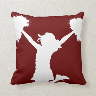 Customizable Background Cheerleader Cheerleading Throw Pillow