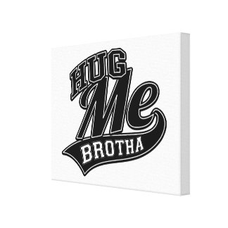 Customizable Background Color for Hug Me Canvas Print