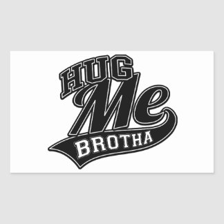 Customizable Background Color for Hug Me Rectangular Sticker